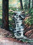 Oil painting of Myers Creek Falls.