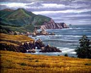 Oil painting of Big Sur, North.