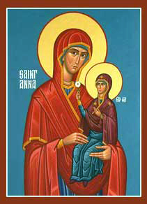 Icon of Anna and Theotokos