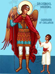 Icon of Archangel Michael, Guardian of Children