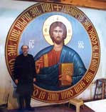 Fr. Luke with Icon of The Pantokrator